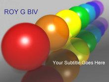 彩色圆球PPT模板