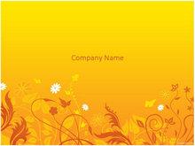 金黄色花纹背景PPT模板