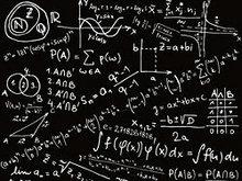 化学公式手写版矢量图图片
