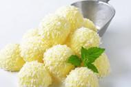淡黄色冰激凌图片
