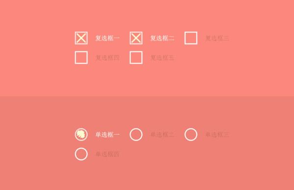 HTML5+CSS3 动态复选框、单选框