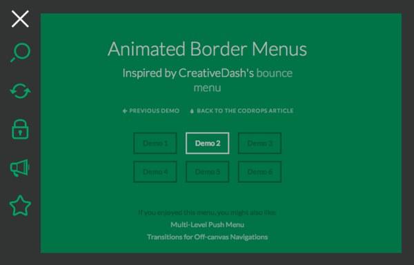 动画导航菜单(六种样式)