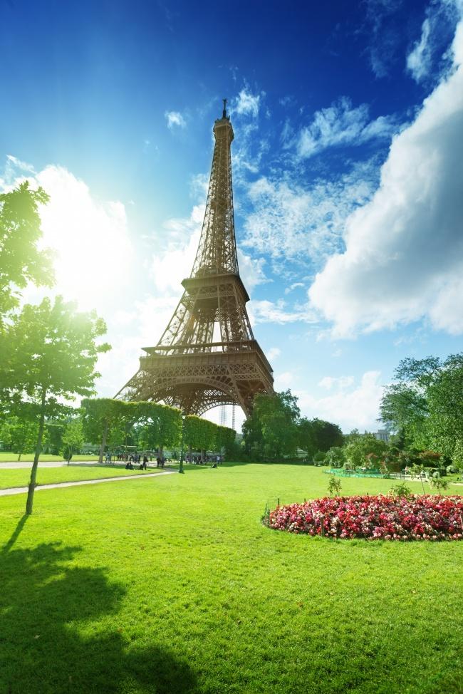 风景图片,法国铁塔,巴黎铁塔,蓝天白云,铁塔