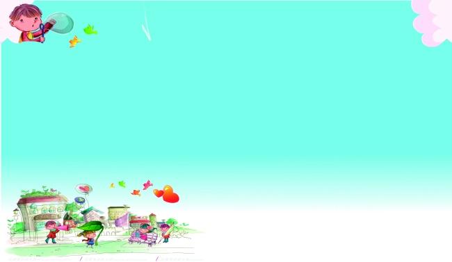 娃娃,卡通,简约背景,淡雅,纯色背景,浅蓝色,卡通儿童,可爱卡通,图片