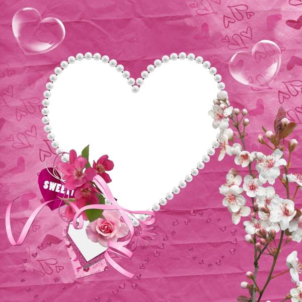 相框素材,粉红相框,甜美相框,可爱相框
