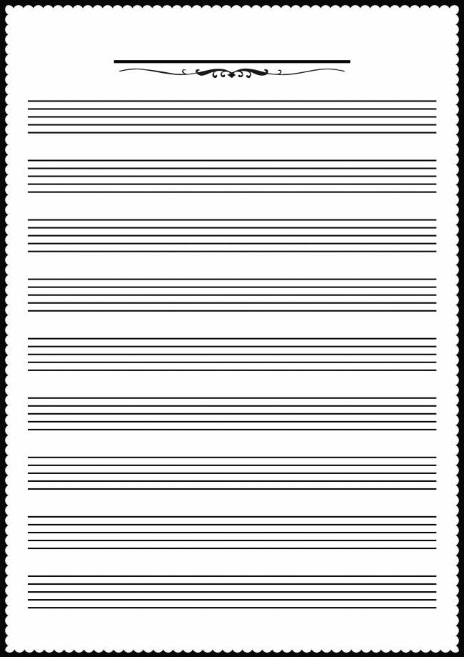 空白五线谱背景图片