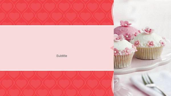 可愛蛋糕兒童生日ppt模板,生日主題ppt背景圖片,歐美生日ppt模板下載