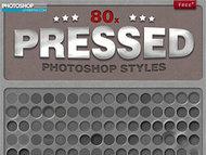 80個超酷質感凹陷效果樣式