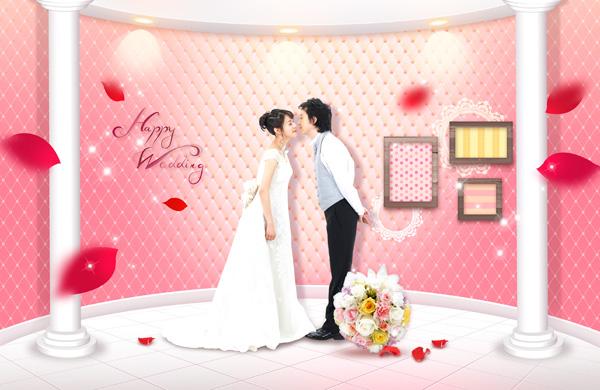 浪漫婚礼图片psd素材