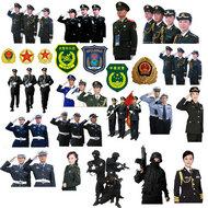 警察官兵人物PSD素材