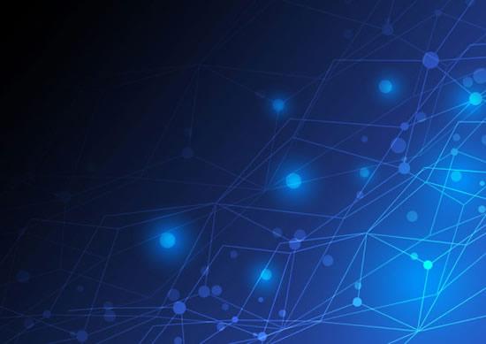 线条连接蓝色背景矢量图,,线条连接,蓝色背景,光晕,光斑,渐变背景矢量
