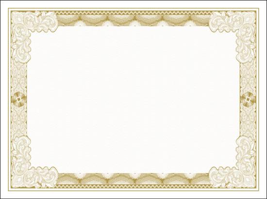 精美花纹证书边框矢量图