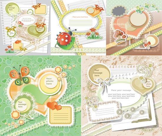 可爱贴纸标签矢量图,,可爱标签,贴纸,蘑菇,花草,蝴蝶结,心形,蕾丝