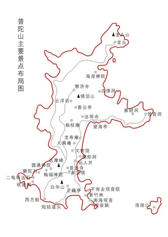 普陀山景区地图cdr矢量图-矢量地图素材-矢量素材-素