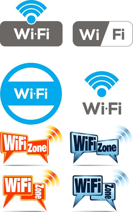 wifi图标矢量图