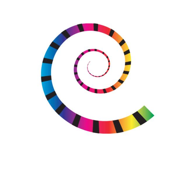 色彩变化螺旋图案矢量图,,色彩变化,螺旋图案矢量图,螺旋ai矢量图免费