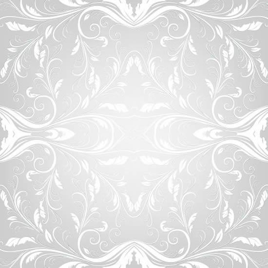 古典白色花纹矢量图