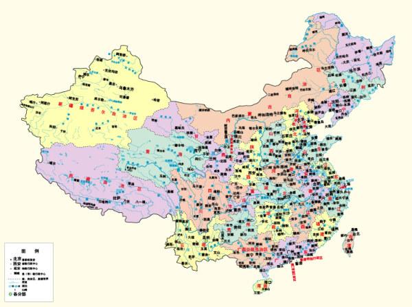 中国行政区域图地图矢量素材