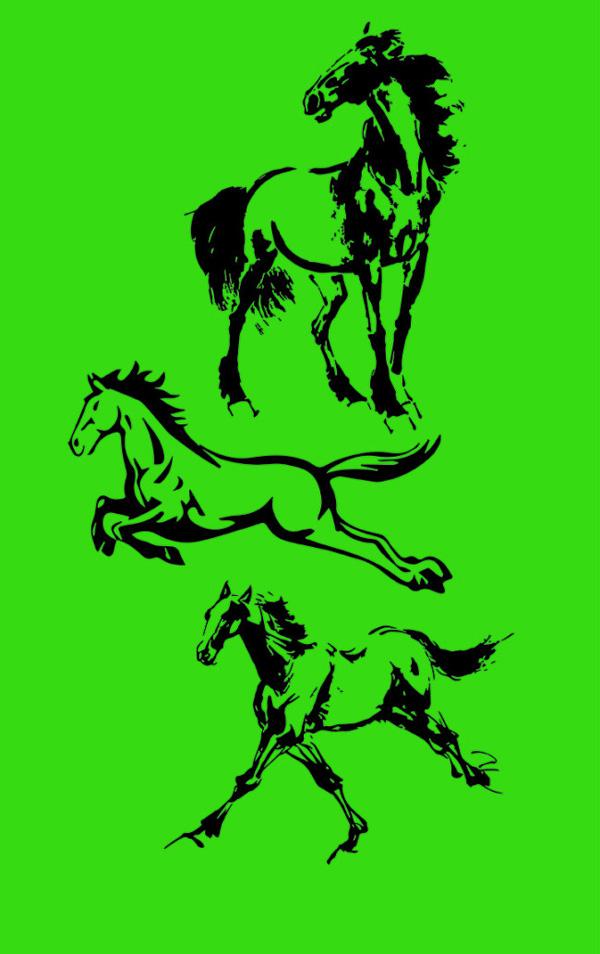马的图案矢量图,,马的图案,骏马,奔马,水墨马,马年图片素材,马ai矢量
