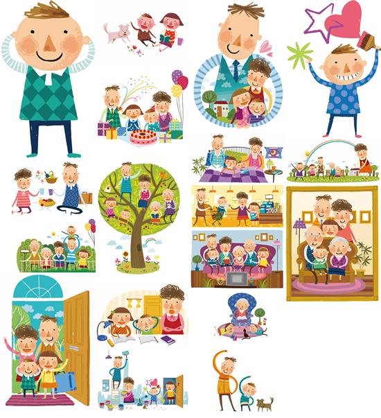 幼儿园生活场景卡通图