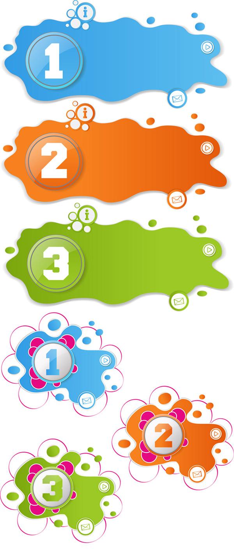 水渍状数字标签,油漆,圆形,喷漆,泼墨,网页,主页,网络邮件,数字,序号