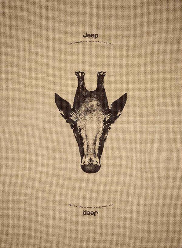 """全新""""jeep""""创意动物海报"""