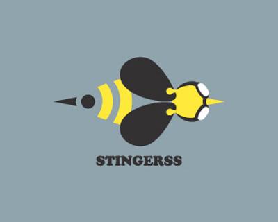 40款蜜蜂题材logo欣赏-标志设计-设计欣赏-素彩网