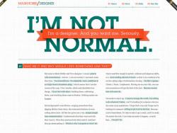 網頁設計欣賞:漂亮簡潔的布局