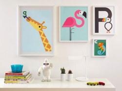 一组动物字母儿插欣赏,简洁的色块,高大上啊~好稀饭~