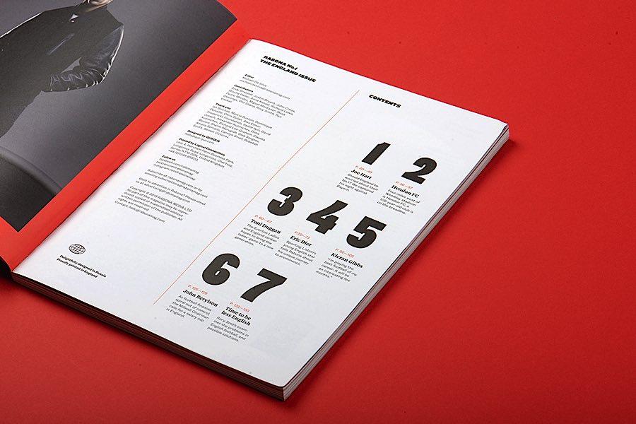 rabona足球杂志版面设计欣赏