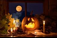 萬圣夜南瓜燈籠圖片
