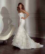 豪華拖地婚紗圖片