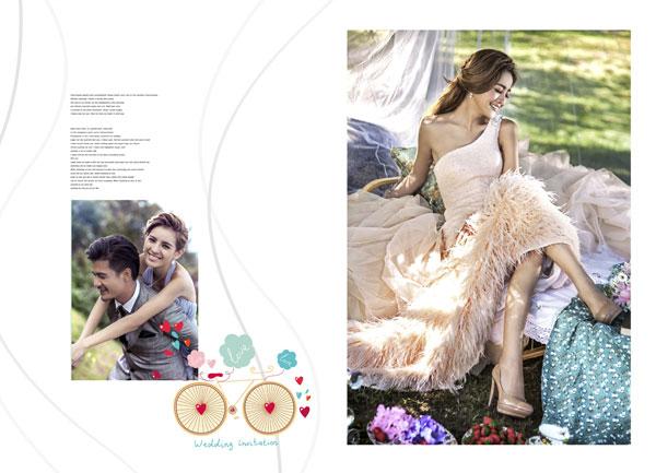 竖版婚纱照相册psd素材