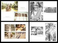 婚纱相册模板PSD图片