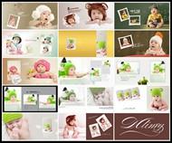 幸福寶貝兒童寫真PSD圖片