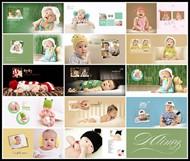 快樂寶貝兒童寫真PSD圖片