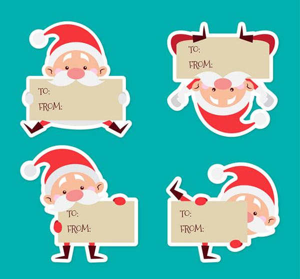 可爱圣诞老人片,可爱圣诞老人,贴纸,圣诞老人,圣诞节