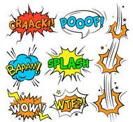 漫画风格语言框矢量图片