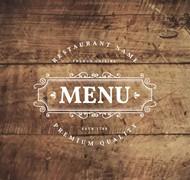 木板上的菜单标志矢量图片
