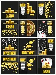 时尚金币与赌博矢量图片