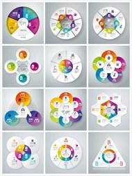 彩色信息图表矢量图片