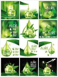 护肤品广告元素矢量图片