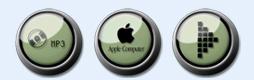 墨綠環形紐扣蘋果圖標