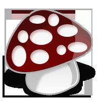 水晶卡通蘑菇图标