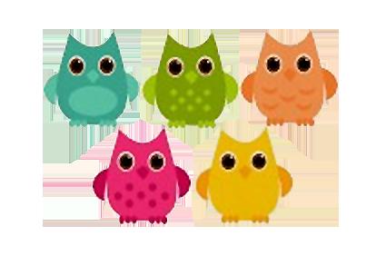 可爱猫头鹰图标-动植物-png素材-素彩图标大全