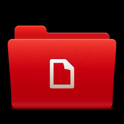 红色文件夹图标-文件夹-png素材-素彩图标大全