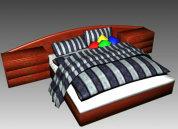 现代个性的大床3D模型下载
