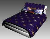 简易的加黑夜星星被褥的大床3D模型下载