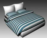 简易的加条形被褥的大床3D模型下载