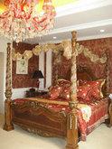 欧式华丽温馨的床3D模型1款